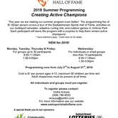 Saskatchewan Sports Hall of Fame Summer Programming!