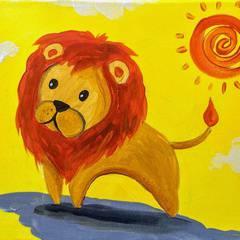 Kids Paint: Lions