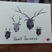 Finger-Print Holiday Cards in Gresham