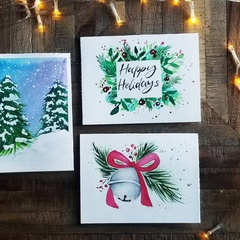 Watercolour Christmas Cards