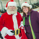 Skate with Santa, supported by the Esquimalt Lions