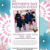 Pre Mother's Day Fashion Event