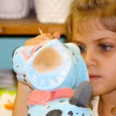 Pottery painting fun for kids every Sunday!