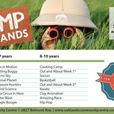 Camp Oaklands (5-7 & 8-10 years(