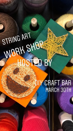 String art Pop up Work Shop at the Forks Market