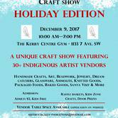 Authentically Indigenous Craft Show 'Holiday Edition' December 9, 2017