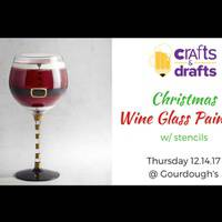 Crafts & Drafts - Christmas Wine and Pint Glass Painting Party