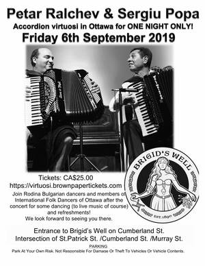 Petar Ralchev & Sergiu Popa  Accordion virtuosi in Ottawa for ONE NIGHT ONLY!