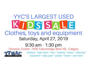 YYC's Largest Sale of Used Kid's Clothing & Equipment