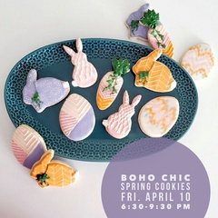 Boho Chic Spring Cookies