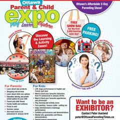 Ottawa Parent & Child Expo April 13 & 14, 2019 @ Nepean Sportsplex