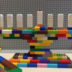 Build a Giant LEGO Menorah