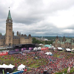 Canada Day at the Parliament
