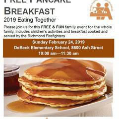 Eating Together - free family pancake breakfast