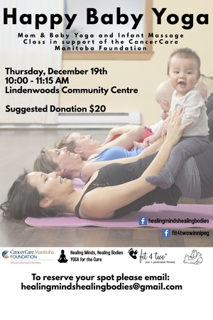 Happy Baby Yoga for CancerCare Manitoba