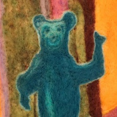 Needle-Felted Wallhanging