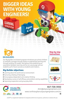 e² Young Engineers-Big Builders ages 4-6