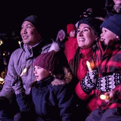Santa Clause Parade Day in Banff