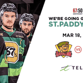 St. Paddy's Day with Ottawa 67's