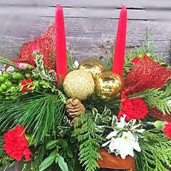 DIY: Christmas centrepieces