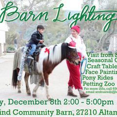 Holiday Barn Lighting
