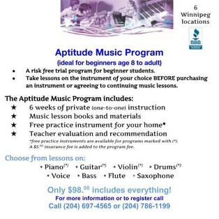 Tauber Music School's promotion image