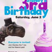Stanley the T.rex's Mascot Birthday Party!