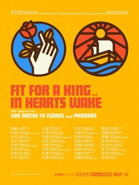 Fit For A King, In Hearts Wake, Like Moths To Flames, Phinehas