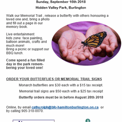 13th Annual Butterfly Release & Memorial Walk