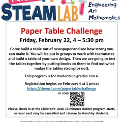 Kids STEAM Lab: Paper Table Challenge