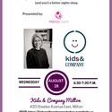 Kids & Company Milton Sleep Workshop - led by The Mama Coach!