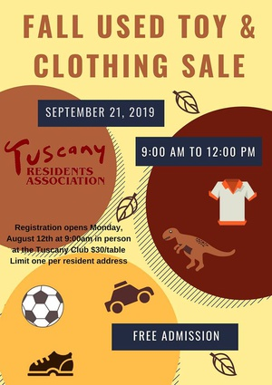 Fall Used Toy & Clothing Sale