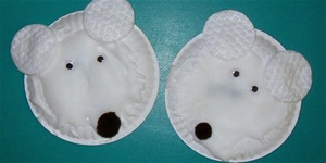 NORTHSIDE Polar Bear Puffy Paint Art (For Grades K-3 ONLY)