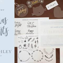 DIY Christmas Calligraphy Ornaments
