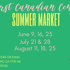 SUMMER MARKET –  FIRST CANADIAN CENTRE