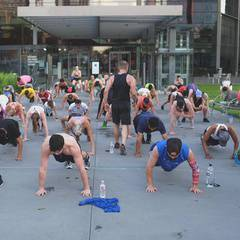 Live Insanity Class with WFAA Party on the Plaza