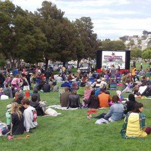 Bernal Heights Outdoor Cinema - Opening night