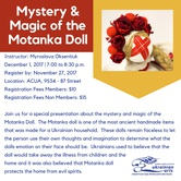 Mystery & Magic of the Motanka Doll Lecture