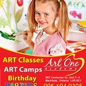 PA Day Art Camps at Art One Academy Markham!