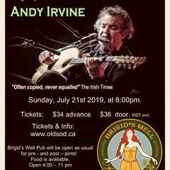 Irish music legend, Andy Irvine