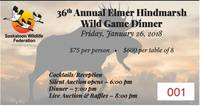 36th Annual Elmer Hindmarsh Wild Game Dinner