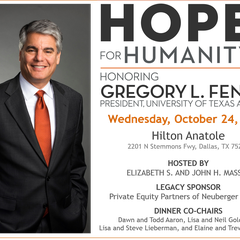 Hope for Humanity Honoring Dr. Gregory L. Fenves