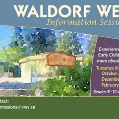 Waldorf Welcome Information Session and Tours for Adults - 2018-19