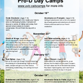 Pro-D Day Camps in English and French