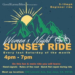 Women's Night Saturday Sunset Ride