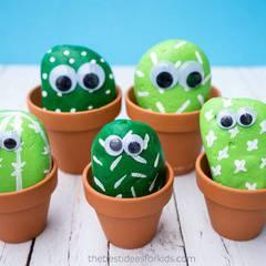 Teen Craft: Cactus Pet Rocks