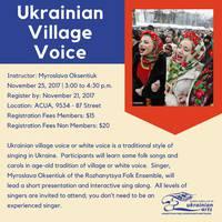 Ukrainian Village Voice Workshop