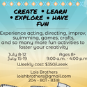 Acting/Creative Summer Camp