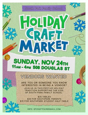 South Park Family School Holiday Craft Market