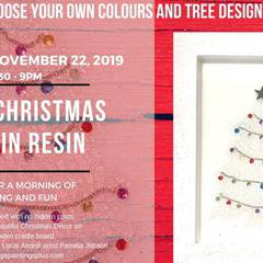 Glass Christmas Tree in Resin Workshop